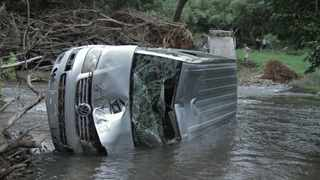 Daniel Black's car which was swept away in the flood. Picture: Supplied