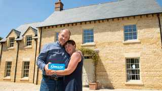 Darren and Wendy Wordon in front of their £2.5 million Cotswolds home. Picture: Supplied
