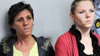 Debbie Calitz and her daughter 21 year old Kerri-Ann Cross appear at the Hatfield Magistrate's Court in Pretoria for possesion of drugs. they were granted bail. 101212. picture: Chris Collingridge 809