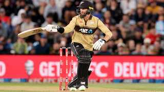 Devon Conway New Zealand bats during the 1st T20 against Australia. Picture: Martin Hunter/AAP Image