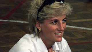 Diana, Princess of Wales during her visit to Bosnia in August 1997. (AP Photo/Ian Waldie/pool)