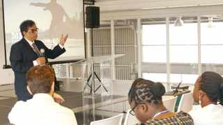 Dr Iqbal Surve, executive chairman of Independent Media, was the keynote speaker at the Schlumberger Foundation Facultys regional forum at the V&A Waterfront. Picture: Chanelle Manuel