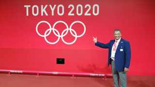 Dr Kevin du Plooy at the Olympics. SUPPLIED