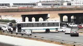 Durban Transport bus drivers used buses to block major highways and roads yesterday morning. Picture: FACEBOOK