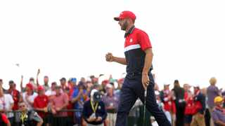 Dustin Johnson help was instrumental in helping defeat Europe in the Ryder Cup. Photo: Stacy Revere/Getty Images via AFP