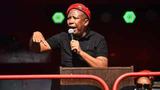 EFF leader Julius Malema addressing the EFF June 16 commemoration outside the Uitsig High School in Centurion.Picture: EFF Twitter