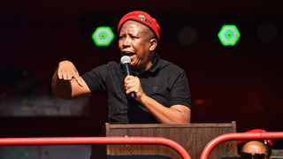 EFF leader Julius Malema addressing the EFF June 16 commemoration outside the Uitsig High School in Centurion. Picture: EFF Twitter