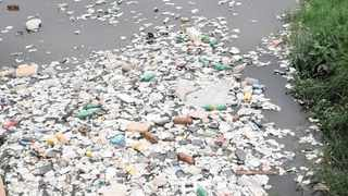 EYESORE: The polluted Jukskei River in the Waterfall area just below Woodmead. Picture: Supplied
