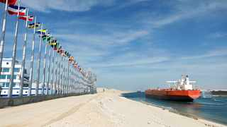 Egypt's Suez Canal, where frantic efforts were being made Wednesday to free a giant container ship, opened 150 years ago. Photo: Reuters