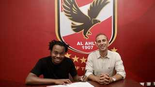 Egyptian giants and African champions Al Ahly have announced the signing of Bafana Bafana star Percy Tau from English Premier League side Brighton and Hove Albion. Photo: Al Ahly/Twitter