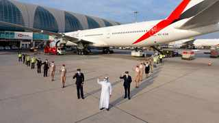 Emirates operates first flight serviced by fully vaccinated frontline teams. Picture: Supplied.