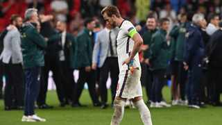 England captain Harry Kane walks after England lost to Italy in the EURO 2020 final. Photo: Paul Ellis/AFP