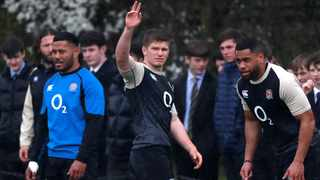 England captain Owen Farrell (centre) and three other senior members of the Saracens squad are raising questions over whether they have broken salary cap regulations.Photo: Matthew Childs/Reuters