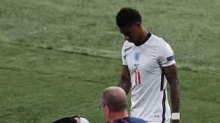 England's forward Marcus Rashford leaves the pitch after their loss in the EURO 2020 final. Facundo Arrizabalaga/AFP