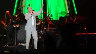 """English songwriter and soul singer Sam Smith performing during his """"Thrill of it All Tour"""" at the Ticketpro Dome, Northgate, North Riding. Picture: Karen Sandison/African News Agency(ANA)"""