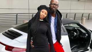 Enhle Mbali and Black Coffee. Picture: Instagram