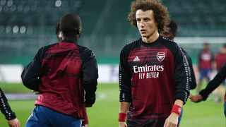 FILE - Arsenal's David Luiz during a warm up before a match. Photo: Lisi Niesner/Reuters