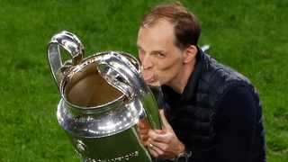 FILE - Chelsea manager Thomas Tuchel celebrates with the trophy after winning the Champions League. Photo: Susana Vera