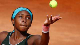FILE - Coco Gauff of the US in action. Photo: Guglielmo Mangiapane/Reuters