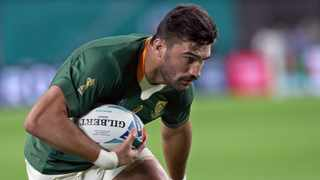 FILE - Damian de Allende on his way to score a try during the Rugby World Cup match between Springboks and Canada. Photo: EPA