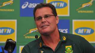 FILE - Director of rugby Rassie Erasmus during a press conference. Photo: Sydney Mahlangu/BackpagePix