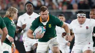 FILE - Duane Vermeulen in action during the 2019 Rugby World Cup. Photo: Issei Kato/Reuters