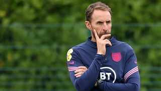FILE - England manager Gareth Southgate during a training session. Photo: Carl Recine/Reuters