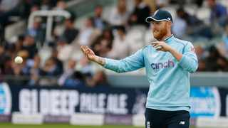 FILE- England's Ben Stokes returns the ball in the field during the second one day international (ODI) cricket match against Pakistan at Lord's cricket ground on July 10, 2021. Photo: Tolga Akmen/AFP