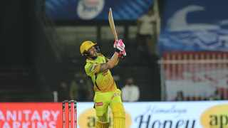 FILE - Faf du Plessis bats for the Chennai Super Kings with 72 off 37 balls.Photo: @IPL on Twitter
