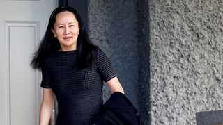 FILE PHOTO: Huawei's Financial Chief Meng Wanzhou leaves her family home in Vancouver