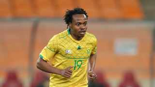 FILE - Percy Tau during the 2021 Afcon Qualifier match between South Africa and Ghana. Photo: Samuel Shivambu/BackpagePix