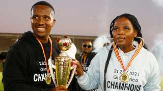 FILE - Royal AM owner Shauwn Mkhize with her son, club chairman Andile Mpisane. Photo: Steve Haag/BackpagePix