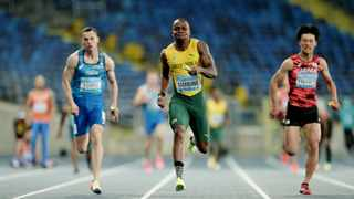 FILE - South Africa's Akani Simbine in action on his way to winning the Men's 4x400 Metres Relay final. Photo: Aleksandra Szmigiel/AFP