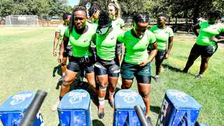 FILE - The Springbok Women's team practice their scrumming during a training camp. Picture: @WomensBoks via Twitter