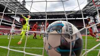 FILE - Union Berlin's Marvin Friedrich, third left, scores the opening goal during their German Bundesliga match against 1. FC Cologne in Cologne. Photo: Martin Meissner/AP