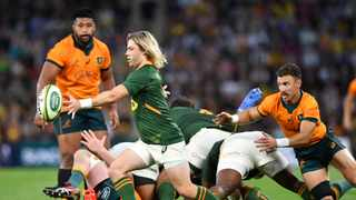 Faf de Klerk of the Springboks in action during the Round 4 Rugby Championship match against Australia. Photo: Darren England/AFP
