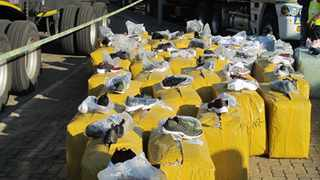 Fake footwear worth R17 million were seized from a truck at the Kopfontein border post between Botswana and South Africa.  Picture: SAPS