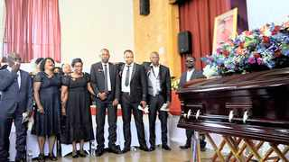 Family and friends of the Enock Mpianzi gather at his funeral in North West. Picture: Nokuthula Mbatha/African News Agency (ANA)