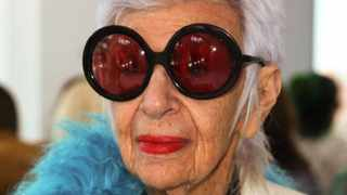 Fashion designer Iris Apfel, pictured in 2015, aged 94. Picture: Andy Kropa/Invision/AP