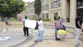 #FeesMustFall protests at the end of last year disrupted exams and students were ordered to vacate their residences. Picture: Yazeed Kamaldien