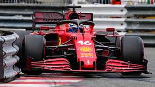 Ferrari's Charles Leclerc drives during the qualifying session at the Monaco street circuit. Photo: Andrej Isakovic/AFP