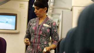 File photo: Cabin crew members could be declared unfit and suspended from flying if their BMI, a measure of weight relative to mass and height, was outside a range considered normal, the regulator said on its website.