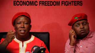 File photo. Economic Freedom Fighters leader, Julius Malema at a media briefing in 2014. File photo: Nhlanhla Phillips/African News Agency (ANA)