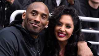 File photo: March 9, 2016 - Los Angeles Lakers guard Kobe Bryant (left) and wife Vanessa Bryant attend an NHL game between the Washington Capitals and the Los Angeles Kings at Staples Centre. Photo: Kirby Lee-USA TODAY Sports