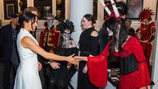 File photo: Meghan, Duchess of Sussex meets actors in costume during a visit to Courtenay Creative in Wellington, New Zealand in 2018. Picture: AP