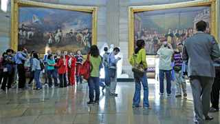 File photo: Visitors tour the rotunda at the US Capitol. The US State Department has lowered its Covid 19-related travel advisory for India to Level 3 – Reconsider Travel, the department said. Picture: Reuters