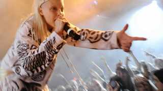 File photo: Yo-Landi Vi$$er of Die Antwoord interacts with the crowd - Masters of ZEF, Die Antwoord, played their final show in Cape Town before jetting off on a World tour. Photo: Matthew Jordaan