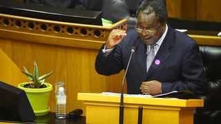 Finance Minister Tito Mboweni delivering the MTBS in Parliament in October 2020. File picture: Phando Jikelo/African News Agency (ANA)