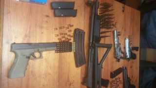 Firearms allegedly linked to political killings in KwaZulu-Natal. Picture: SAPS
