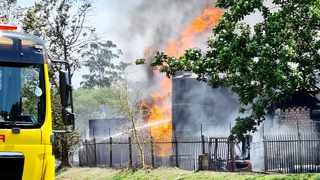 Firefighters continue to battle the blaze at a chemical company in New Germany, Pinetown. Picture: Garrith Jamieson